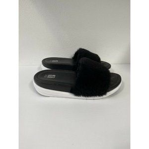 Fitflop Womens Loosh Luxe Slide Shearling Sandals
